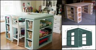 Stunning Modern Craft Table And Simple Diy Craft Supplies Storage  throughout Craft Tables And Storage Ideas