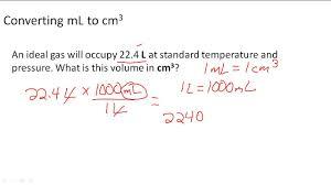 Converting Ml To Cm3