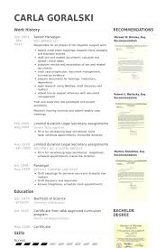 Paralegal Resume Delectable Paralegal Resume Samples VisualCV Resume Samples Database