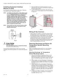 installing equipment interface module (if used), wiring 24 vac eim m2cp actuator wiring diagram installing equipment interface module (if used), wiring 24 vac common, mounting locations honeywell prestige thx9321 user manual page 10 160