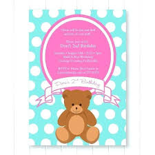 Picnic Invitations Templates Free Teddy Bear Picnic Invitations Jaimesilva Co