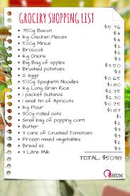 basic grocery shopping list best grocery list for families on a budget stay at home mum