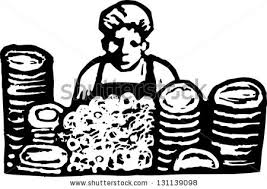 dishwasher clipart black and white. black and white vector illustration of a dishwasher in restaurant clipart s