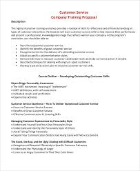 Definition Of Good Customer Services Customer Proposal Template Customer Service Proposal Templates 6