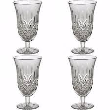 waterford crystal set of 8 lismore iced tea beverage footed glasses 4 once