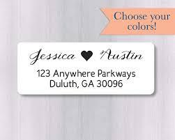 Printed Return Address Label 60ct Wedding Invitation Return Address Labels Wedding Invitation Return Address Stickers 338 Wh