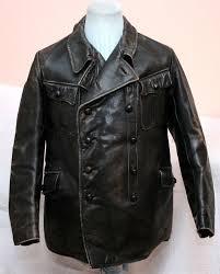 rare very robust leather uniform leather jacket aviator jacket motorcycle jacket