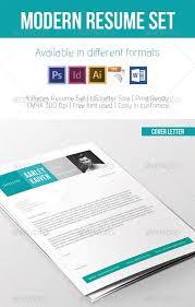 Modern Typographic Resume Set Awesome Resume Cv Templates 56pixels Com