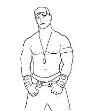 Small Picture John Cena Coloring Page FunyColoring