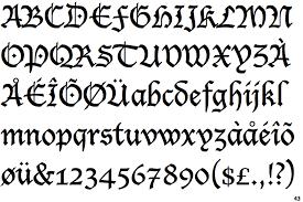black letter font identifont lucida blackletter
