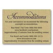 Burlap Wedding Accommodation Reception Cards Business Card