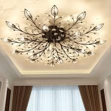 Us 8535 56 Offmoderne Flush Montieren Hause Gold Schwarz Led K9 Kristall Decke Kronleuchter Lichter Leuchte Für Wohnzimmer Schlafzimmer Küche