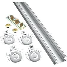 um image for aluminum sliding door track sliding closet door tracks track kits at sliding
