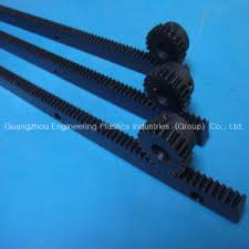China Engineering Plastic Nylon Rack Gear PA PA66 Gear Rack and