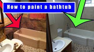 How to paint a bathtub | How to refinish an old bath tub - YouTube