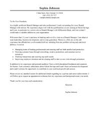 Ideas Collection Best Branch Manager Cover Letter Examples