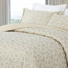 natural comfort luxurious cotton duvet cover mini set queen size in light taupe