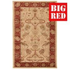 flair rugs traditional collection ziegler arak cream rust