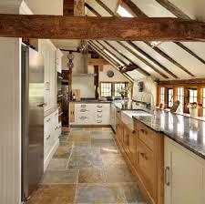 Kitchen Stone Flooring Interceramic Look London Farmhouse Kitchen Decorating Ideas With 2