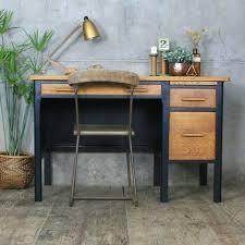 mid century oak painted school desk