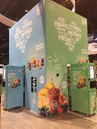 Vending Machine Vinyl Wrap Enchanting Custom Constructed Trade Show Booth With Color Matched Vending