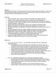 Qa Resume Resumes Analyst Summary Engineer Format Qc Example
