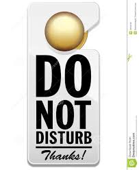 Do Not Disturb Sign stock vector. Illustration of hung - 18159732