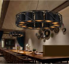large vintage loft black wrought iron spider pendant light for dining room restaurant lounge light fixture