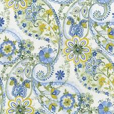 Blue Paisley Floral cotton quilt fabric by the yard | Keepsake ... & Blue Paisley Floral cotton quilt fabric by the yard | Keepsake Quilting Adamdwight.com