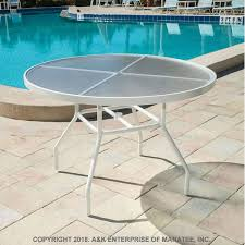 a36 acrylic 36 inch round outdoor table