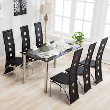 lovely dining room furniture bamboo wood for 6 hexagon mirror vintage standard lacquered mirrored sled legs brown small dining table set 6 chairs medium