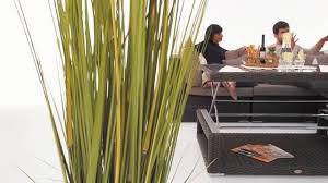 Crystel Rattan Gartenlounge Braun Tisch Oben Höhenverstellbar On