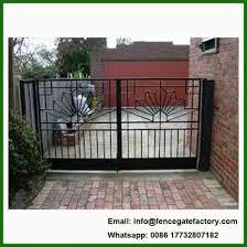 modern wrought iron garden gate
