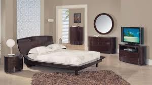 Wenge Living Room Furniture Zebrano Wenge High Gloss Finish Modern Bedroom Set