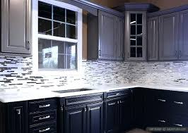 kitchen backsplash glass tile dark cabinets. Wonderful Cabinets Backsplash For Dark Cabinets Modern Kitchen Glass Tile Tumbled Stone  With With Kitchen Backsplash Glass Tile Dark Cabinets S