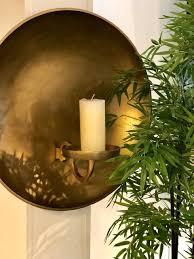 halo large candle holder moss