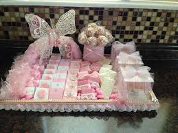 Baby Tray Decoration Baby girl pass out favor tray Baby favor ideas for a girl 10