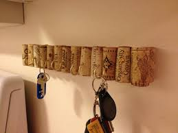 wine cork key holder for wall