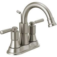 centerset 2 handle bathroom faucet in brushed nickel