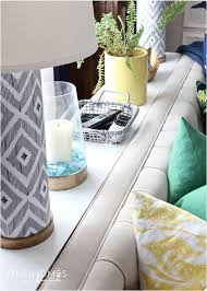a 10 minute sofa table using ikea parts