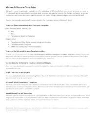 Template For Resume In Word Ms Office Cover Letter Template Office