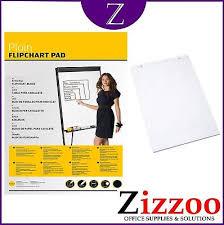 Flip Chart Pad A1 Flip Chart Pad 40 Plain Sheets For Flipcharts And Easels Ebay