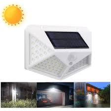 100 led solar powered garden lamp white