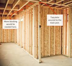 wall framing blocking installation