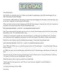 Thank You Mcdonald S Life Of Dad