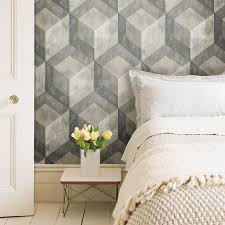 NuWallpaper 30.75-sq ft Grey Vinyl Wood ...