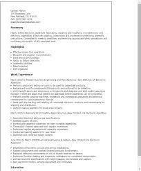 Resume Templates: Electronic Assembler