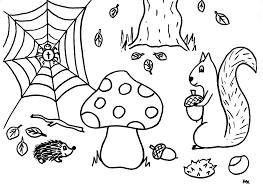 Kleurplaat Herfst