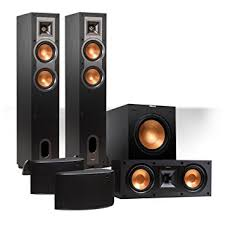 klipsch home speakers. klipsch reference 5.1 channel r-24f surround home theater speaker bundle with 12\u0026quot; subwoofer speakers o