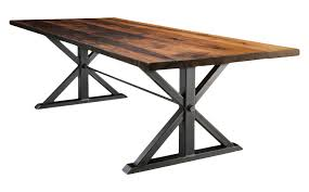 dining room tables reclaimed wood.  Wood Jackson Double Pedestal Table  Reclaimed Wood Industrial Dining Room  Tables Dering Hall Throughout